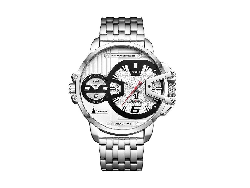 Náš tip  Extravagantní hodinky WEIDE 1702 bílé 74d4dc88a2